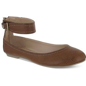 MIA | Baquettee Brown Ballet Flats Ankle Strap 7